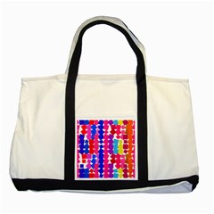 Colorful Squares Two Tone Tote Bag by LalyLauraFLM