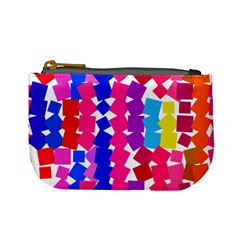 Colorful Squares Mini Coin Purse by LalyLauraFLM