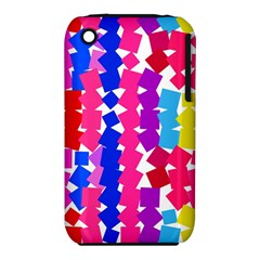 Colorful Squares Apple Iphone 3g/3gs Hardshell Case (pc+silicone) by LalyLauraFLM