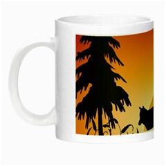 The Lonely Wolf In The Sunset Night Luminous Mugs by FantasyWorld7