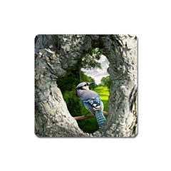 Bird In The Tree 2 Square Magnet by infloence