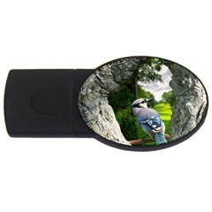 Bird In The Tree 2 Usb Flash Drive Oval (4 Gb)  by infloence