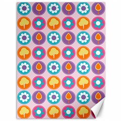 Chic Floral Pattern Canvas 36  X 48   by creativemom