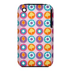 Chic Floral Pattern Apple Iphone 3g/3gs Hardshell Case (pc+silicone) by creativemom