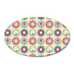 Chic Floral Pattern Oval Magnet by creativemom
