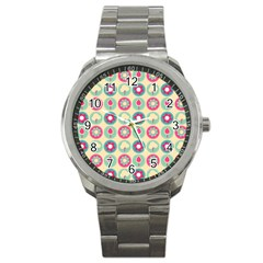 Chic Floral Pattern Sport Metal Watches by creativemom