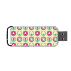 Chic Floral Pattern Portable Usb Flash (two Sides) by creativemom