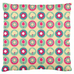 Chic Floral Pattern Standard Flano Cushion Cases (One Side)  by creativemom