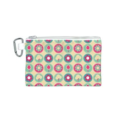 Chic Floral Pattern Canvas Cosmetic Bag (s) by creativemom