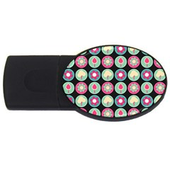 Chic Floral Pattern Usb Flash Drive Oval (2 Gb)  by creativemom
