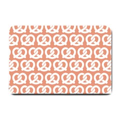 Salmon Pretzel Illustrations Pattern Small Doormat  by creativemom