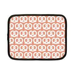 Salmon Pretzel Illustrations Pattern Netbook Case (small)  by creativemom