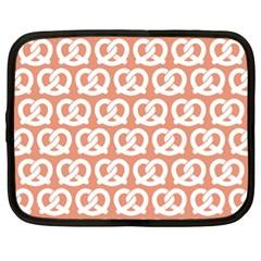 Salmon Pretzel Illustrations Pattern Netbook Case (xl)  by creativemom
