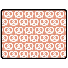 Salmon Pretzel Illustrations Pattern Fleece Blanket (large)  by creativemom
