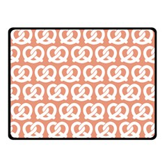 Salmon Pretzel Illustrations Pattern Double Sided Fleece Blanket (small)  by creativemom