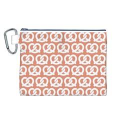 Salmon Pretzel Illustrations Pattern Canvas Cosmetic Bag (l) by creativemom