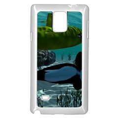 Submarine With Orca Samsung Galaxy Note 4 Case (White) by FantasyWorld7