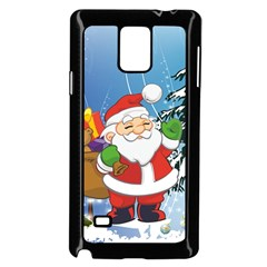 Funny Santa Claus In The Forrest Samsung Galaxy Note 4 Case (black) by FantasyWorld7