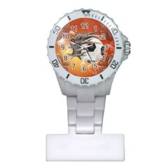 Soccer With Skull And Fire And Water Splash Nurses Watches by FantasyWorld7