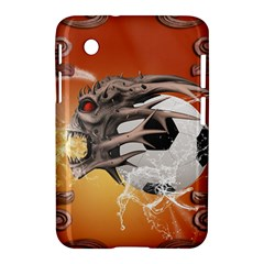 Soccer With Skull And Fire And Water Splash Samsung Galaxy Tab 2 (7 ) P3100 Hardshell Case  by FantasyWorld7