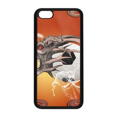 Soccer With Skull And Fire And Water Splash Apple Iphone 5c Seamless Case (black) by FantasyWorld7