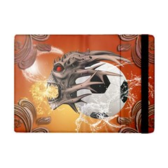 Soccer With Skull And Fire And Water Splash Ipad Mini 2 Flip Cases by FantasyWorld7