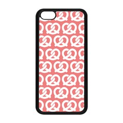 Chic Pretzel Illustrations Pattern Apple Iphone 5c Seamless Case (black) by creativemom