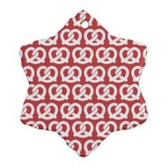 Trendy Pretzel Illustrations Pattern Snowflake Ornament (2 Side) by creativemom