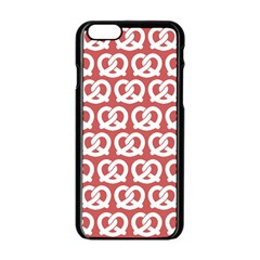 Trendy Pretzel Illustrations Pattern Apple iPhone 6/6S Black Enamel Case by creativemom