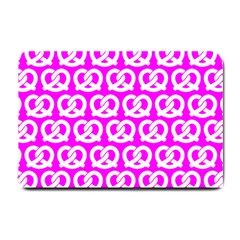 Pink Pretzel Illustrations Pattern Small Doormat  by creativemom