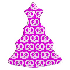 Pink Pretzel Illustrations Pattern Christmas Tree Ornament (2 Sides) by creativemom