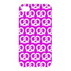 Pink Pretzel Illustrations Pattern Apple Iphone 4/4s Premium Hardshell Case by creativemom