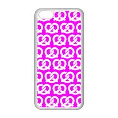 Pink Pretzel Illustrations Pattern Apple Iphone 5c Seamless Case (white)