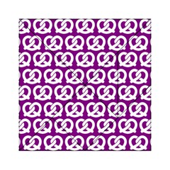 Purple Pretzel Illustrations Pattern Acrylic Tangram Puzzle (6  x 6 ) by creativemom