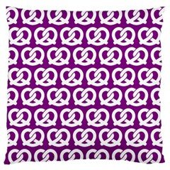 Purple Pretzel Illustrations Pattern Standard Flano Cushion Cases (one Side)  by creativemom