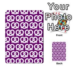 Purple Pretzel Illustrations Pattern Multi Purpose Cards (rectangle)  by creativemom