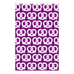 Purple Pretzel Illustrations Pattern Shower Curtain 48  X 72  (small)  by creativemom
