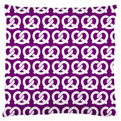 Purple Pretzel Illustrations Pattern Large Cushion Cases (two Sides)  by creativemom