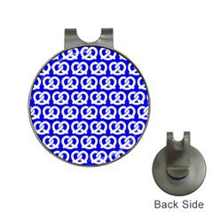 Blue Pretzel Illustrations Pattern Hat Clips With Golf Markers by creativemom