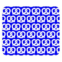 Blue Pretzel Illustrations Pattern Double Sided Flano Blanket (small)  by creativemom