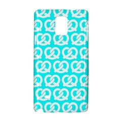 Aqua Pretzel Illustrations Pattern Samsung Galaxy Note 4 Hardshell Case