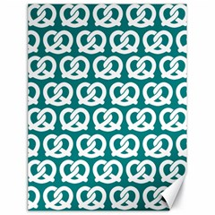 Teal Pretzel Illustrations Pattern Canvas 18  X 24   by creativemom