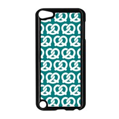 Teal Pretzel Illustrations Pattern Apple iPod Touch 5 Case (Black) by creativemom