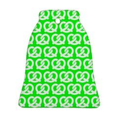 Neon Green Pretzel Illustrations Pattern Bell Ornament (2 Sides) by creativemom
