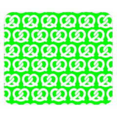 Neon Green Pretzel Illustrations Pattern Double Sided Flano Blanket (Small)