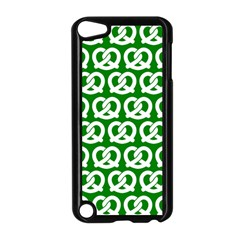 Green Pretzel Illustrations Pattern Apple iPod Touch 5 Case (Black) by creativemom