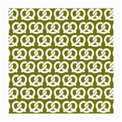 Olive Pretzel Illustrations Pattern Medium Glasses Cloth (2 Side) by creativemom