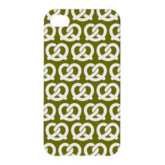 Olive Pretzel Illustrations Pattern Apple Iphone 4/4s Premium Hardshell Case by creativemom
