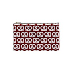 Red Pretzel Illustrations Pattern Cosmetic Bag (small)  by creativemom