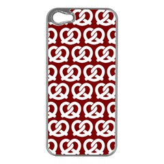 Red Pretzel Illustrations Pattern Apple Iphone 5 Case (silver) by creativemom